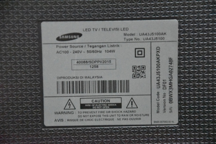 TV SAMSUNG UA43J5100AK 43in